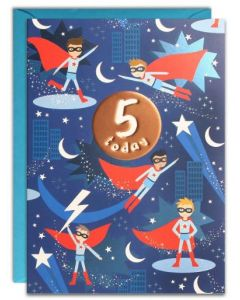 Age 5 Birthday - Superheroes