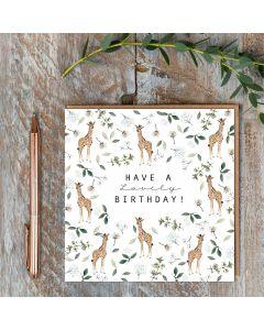 Birthday card - Lovely Giraffes