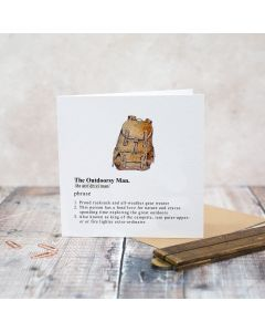 Greeting Card - The Outdoorsy Man