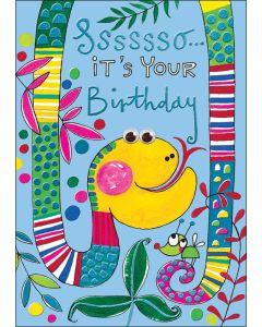 BIRTHDAY card - Birthday Snake