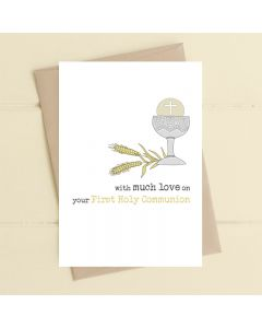 COMMUNION card - 'With much love' chalice