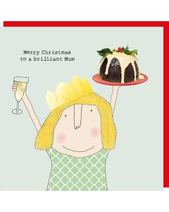 Christmas Card - Brilliant MUM (Pudding)