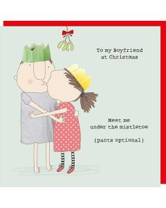 Christmas Card - BOYFRIEND (Mistletoe Kiss)