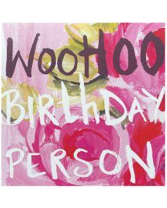 Birthday Card - Woo Hoo Birthday Person