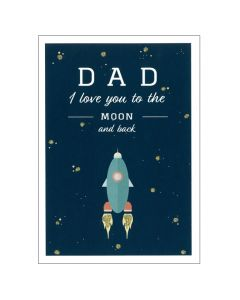 Dad - 'I love you to the moon & back' card
