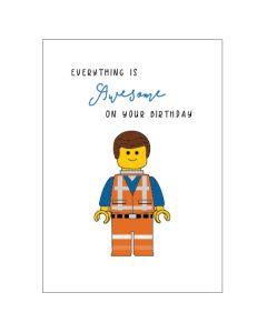 Birthday - LEGO movie card