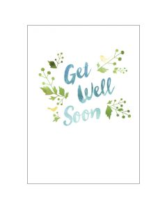Get Well birds & leaves - BIG card
