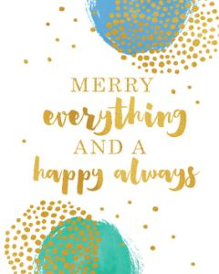 Happy Always Christmas - box of 10 cards