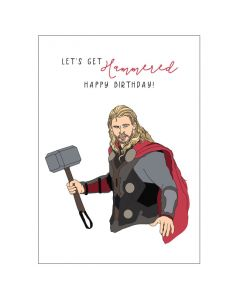 Birthday - THOR 'Let's get hammered' card