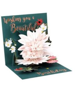 3D Pop-Up Card - Beautiful Birthday Flower Burst