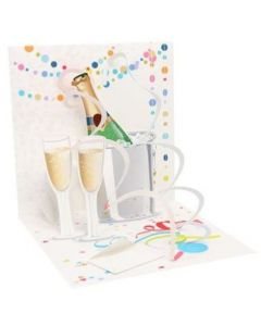 3D Pop-Up Card - Champagne Celebration