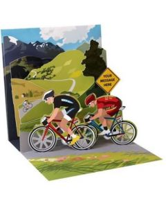 Cycling - 3D pop-up card