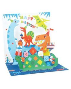 3D Pop-Up Card - Dinosaurs