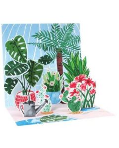 Greenhouse plants & flowers - 3D pop-up card