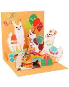 3D Pop-Up Card - Llama Birthday