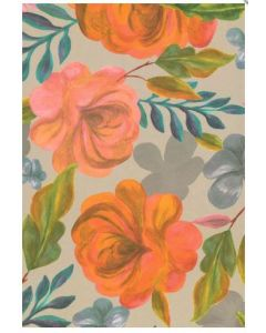 Painted Floral on Grey Folded Wrapping Paper