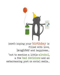 Birthday - Cat & Gin