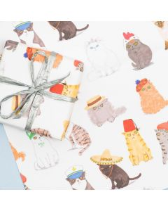 Folded Wrapping Paper - CATS in Hats