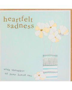 SYMPATHY Card - Heartfelt Sadness