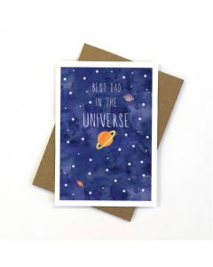 DAD Card  - Best Dad in the Universe