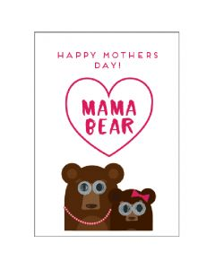 Mother's Day Card - Mama Bear