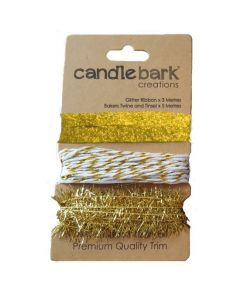Wrapping Trim - Glittering Gold (13 metres)