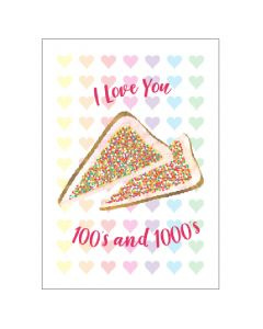 Greeting Card - Love You 100's &1000's