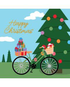 Boxed Christmas Cards - Christmas Bike (10 cards)