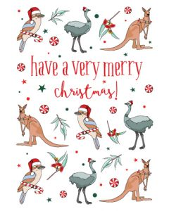 Boxed Christmas Cards - Aussie Christmas Friends (8 cards)