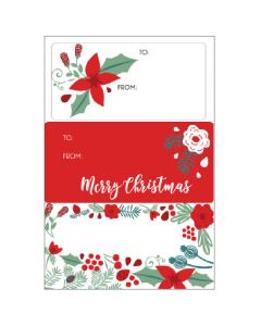 Christmas gift labels - Christmas Nature (15 labels)