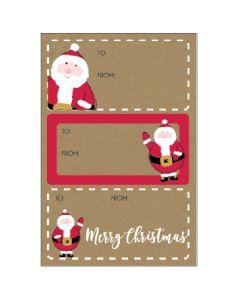 Christmas gift labels - Festive Santa (15 labels)
