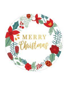 Christmas gift tags - Christmas wreath (8-pack)