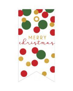 Christmas gift tags - Christmas confetti (8-pack)