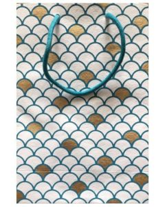 Gift bag - Blue & gold scales