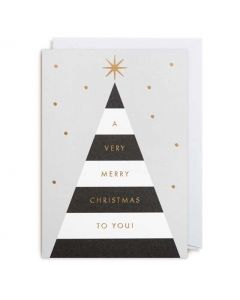 Black & White Christmas Tree Christmas Card