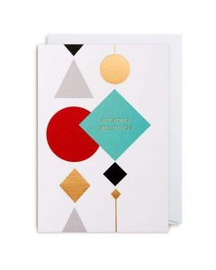 Seasons Greetings Geometric Shapes Christmas Card