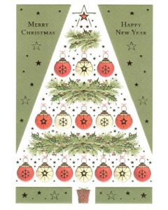 Tree with Baubles Christmas Card