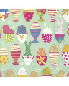Paper Luncheon size napkin/serviette - Colourful eggs (pack of 20)