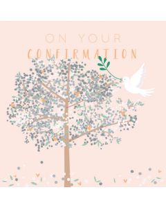On your Confirmation - tree & dove
