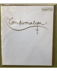 Confirmation - Modern cross on white