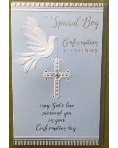 Confirmation - Special Boy - Dove & Cross