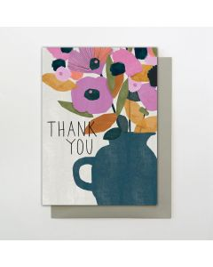 THANK YOU Card - Flowers in Vase