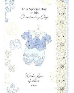 CHRISTENING Card - To a Special Boy