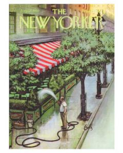 New Yorker Magazine Cover, 1955 Greeting Card