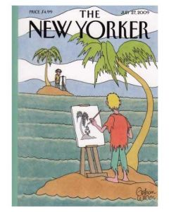 Desert Island Painter The New Yorker Cover July 2009 Card