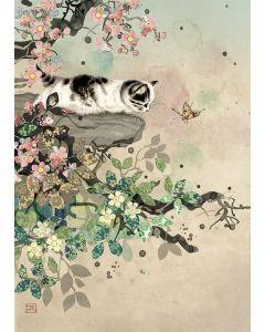 Greeting Card - Kitten & Butterfly