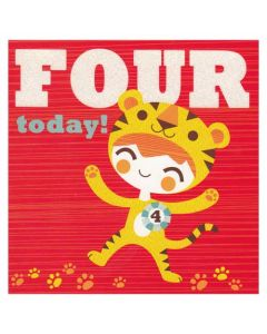'Four Today' Card