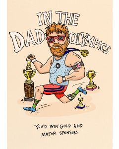 In The Dad Olympics Card