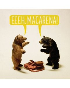 """Eeeh, Macarena!"" Dancing Bears Card"