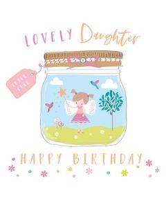Daughter Birthday - Fairy in pretty jar